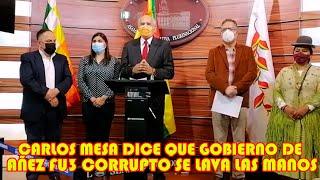 CARLOS MESA D3STROZA AL GOBIERNO DE AÑEZ LO TILDA DE CORRUPT4  MESA SE OLVIDA QUE FUE QUI3N PUSO..