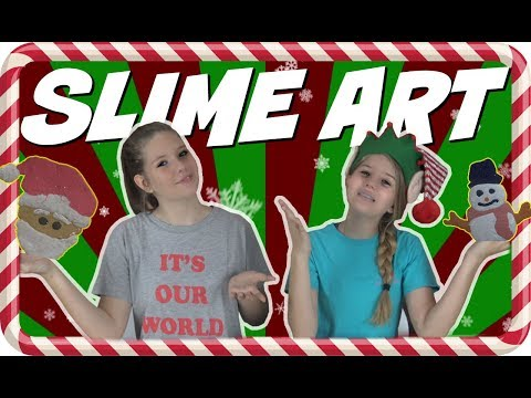 connectYoutube - HOLIDAY SLIME ART CHALLENGE    CHRISTMAS 2017    Taylor and Vanessa