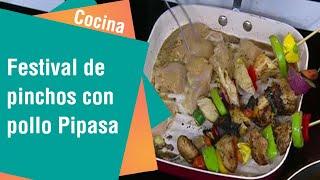 Receta de festival de pinchos con pollo Pipasa | Cocina