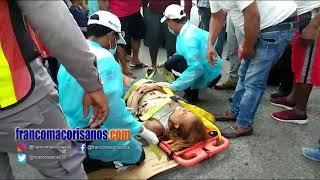 Una mujer resulta lesionada en accidente en San Francisco de Macorís