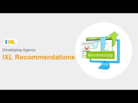 Developing Agency Using IXL's Recommendations