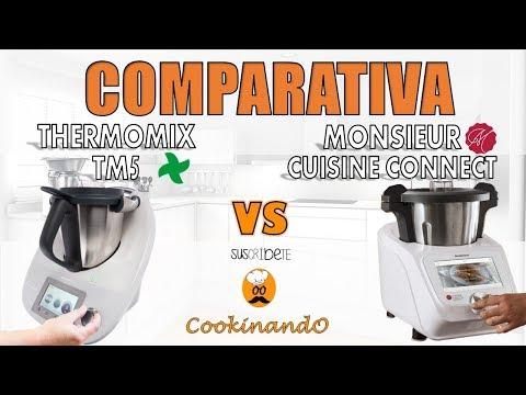 COMPARAMOS la nueva MONSIEUR CUISINE CONNECT con la THERMOMIX TM5