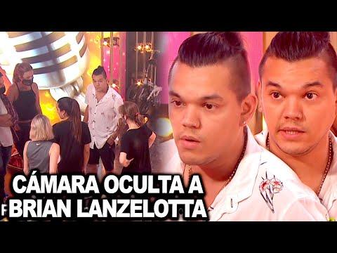 Brian Lanzelotta fue víctima de las cámaras ocultas de Cantando 2020