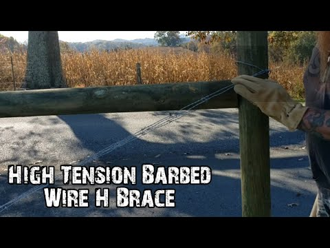 High Tension Barbed Wire H Brace