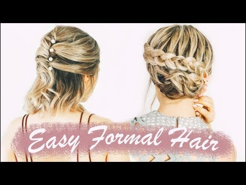 Easy Short Hairstyles For Prom (& Weddings, & Formals!) – KayleyMelissa