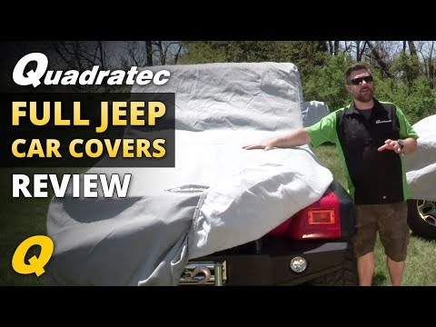 Quadratec 3 Layer and 5 Layer Softbond Car Covers for 1976-2018 Jeep CJ and Wrangler