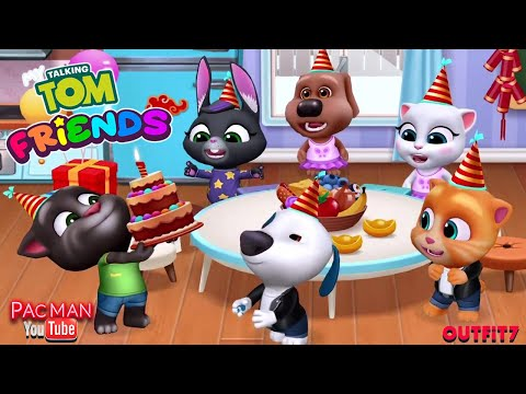 My Talking Tom Friends Gameplay Walkthrough #4 Happy Birthday