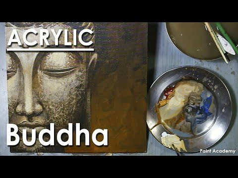 Acrylic Painting : Creative Buddha Portrait