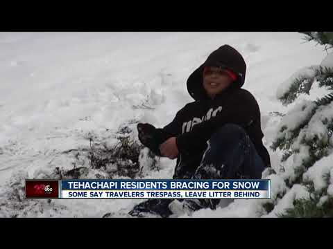connectYoutube - Residents of Tehachapi are preparing for snow and the visitors that come with it