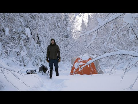 Winter Camping in the Ghost Range Through a Snowstorm! 4K