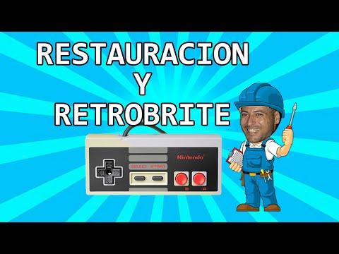 RESTAURACION DE MANDOS DE NES + RETROBRITE