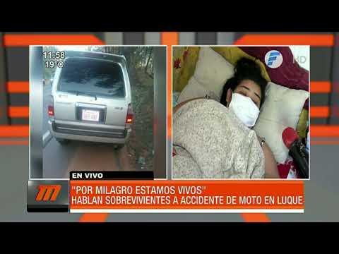 Joven motociclista atropellada en Luque pide ayuda