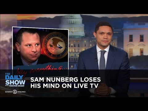 connectYoutube - Sam Nunberg Loses His Mind on Live TV | The Daily Show