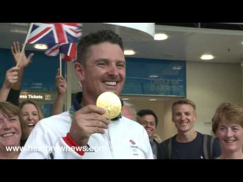 Airtime Footage. Justin Rose returns from Rio Olympics