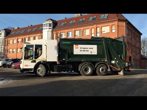 El-søppelbil på besøk