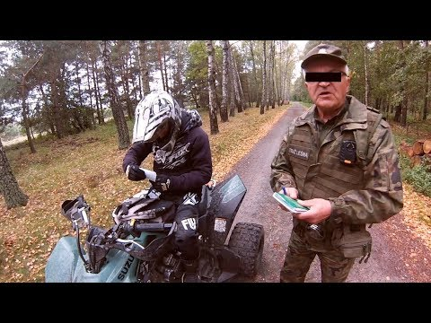 COPS in the forest !!! they wanted to catch us on quads - Ucieczka quadami przed grzybiarzami :)