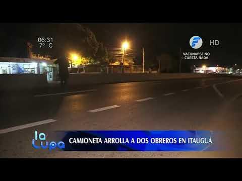 Camioneta atropelló a dos obreros en Itauguá