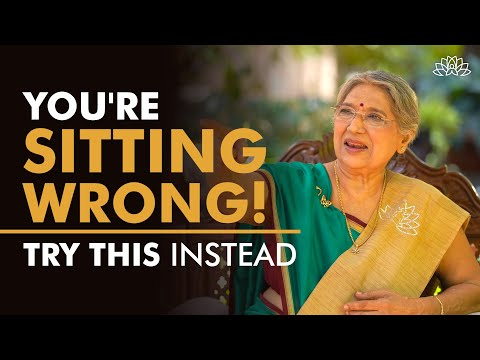 Wrong Sitting Habits   Try sitting in this way!   Dr. Hansaji Yogendra