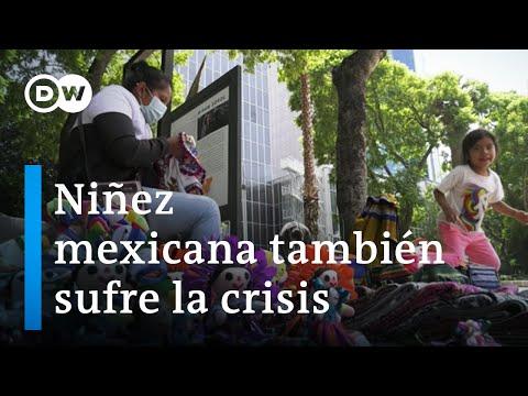 Niñez mexicana también sufre la crisis