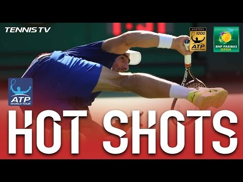 Hot Shot: Cuevas Left Bloodied & Bruised At Indian Wells 2017
