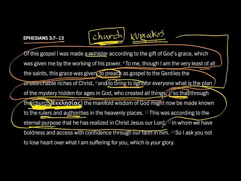 Ephesians 3:7–13 // Part 5 // What Does the Word 'Church' Mean?