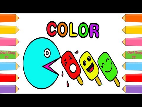 download youtube to mp3 how to draw pacman ice cream learning colors coloring pages art color for kids w owl king tv
