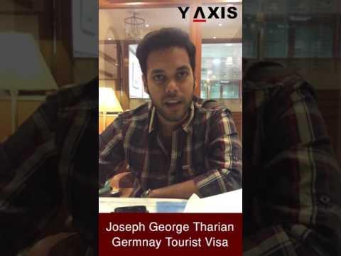 Joseph George Tharian Germnay Tourist Visa PC Poornima Gand