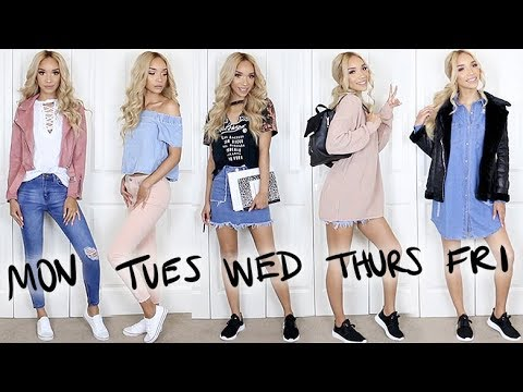 BACK TO SCHOOL TRY-ON 2017 | Full Week of Outfits!