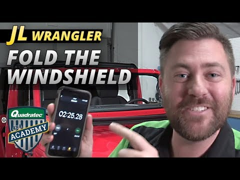 2018 Jeep Wrangler JL Fold Down the Windshield in Under 2 Minutes and 30 Seconds