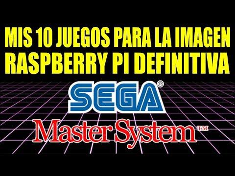 10 JUEGOS SEGA MASTER SYSTEM || IMAGEN RASPBERRY PI CON ROMS