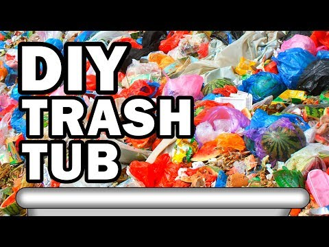connectYoutube - Filling Our Bathtub with Garbage - Man Vs Moving