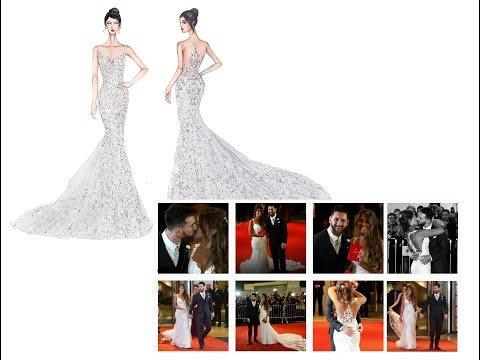 Vestido de novia de Antonela Roccuzzo - Messi