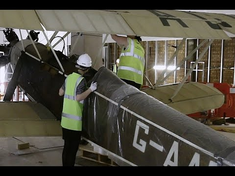 Watch the Handley Page Gugnunc aircraft re-assembled
