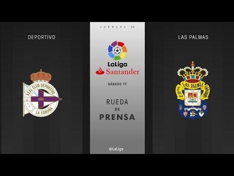 Rueda de prensa Deportivo vs Las Palmas