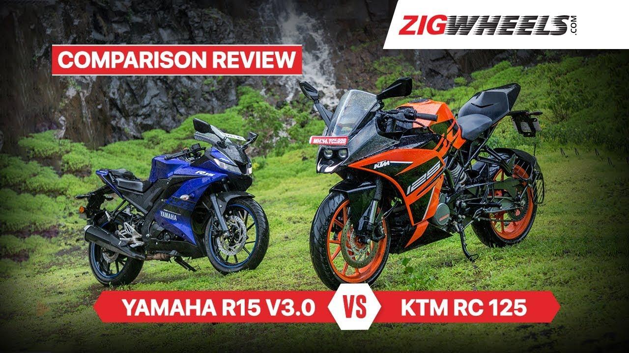 KTM RC 125 vs Yamaha YZF-R15 V3.0   Comparison Review