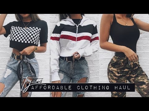 AFFORDABLE TRY ON CLOTHING HAUL - Summer 2018