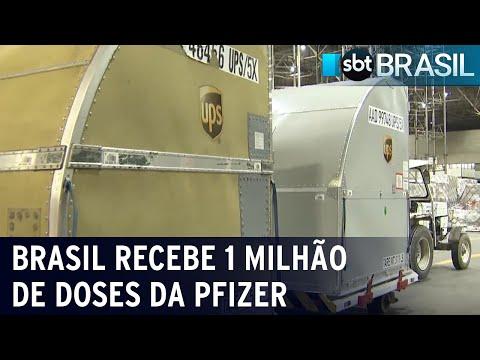 Brasil recebe mais 1 milhão de doses da vacina da Pfizer contra Covid-19   SBT Brasil (21/07/21)