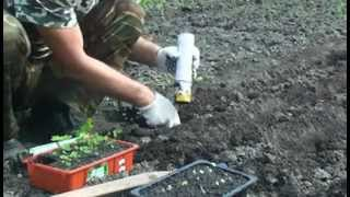 Ручная машинка для высадки рассады в открытый грунт