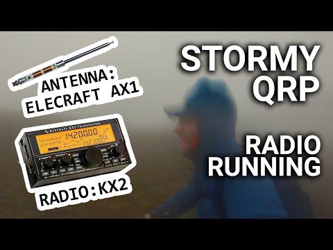 Ham Radio + Running + QRP + Storm = Fun?