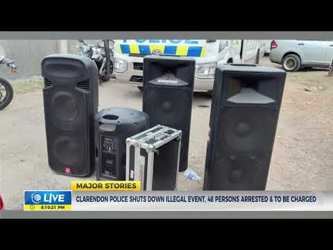 Clarendon Police Shuts Down Illegal Event, 48 Persons Arrested & To Be Charged   News   CVMTV