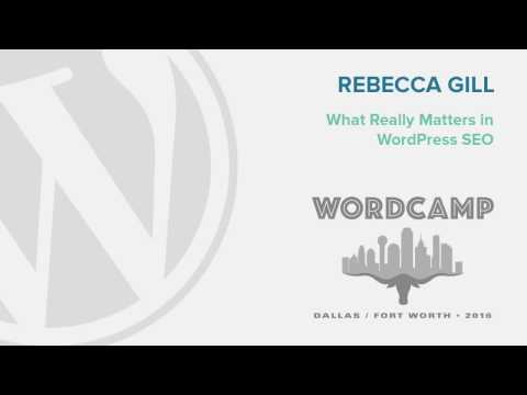 WordCamp Dallas What Really Matters in WordPress SEO