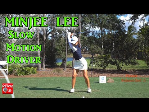 MINJEE LEE 2017/2018 FACE ON DRIVER SLOW MOTION GOLF SWING 120fps