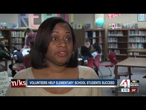 Volunteers help elementary school students succeed