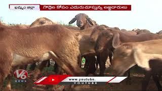 Kuruma, Yadav Community Express Anger on Delay of Sheep Distribution | Khammam | V6 News - V6NEWSTELUGU