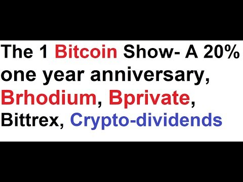 The 1 bitcoin show a 20 one year anniversary brhodium bprivate the 1 bitcoin show a 20 one year anniversary brhodium bprivate ccuart Image collections