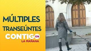 Múltiples personas pasean por las calles de Las Condes sin permiso temporal - Contigo en La Mañana