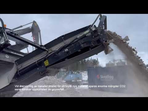 Liten käftkross Finlay J960 återvinner betong