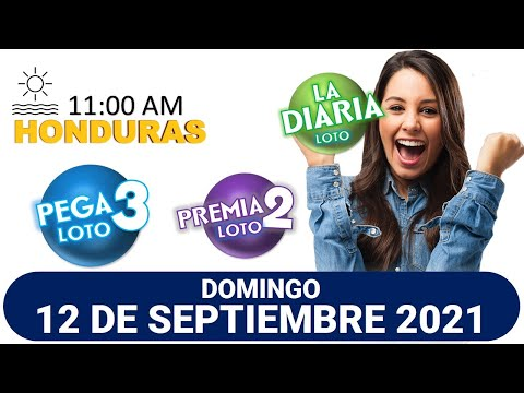 Sorteo 11 AM Resultado Loto Honduras, La Diaria, Pega 3, Premia 2, DOMINGO 12 de septiembre 2021