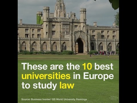 These are the best universities in Europe to study law