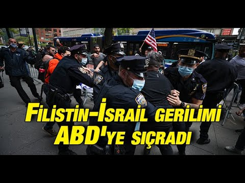 Filistin-İsrail gerilimi ABD'ye sıçradı: Gösteride arbede yaşandı